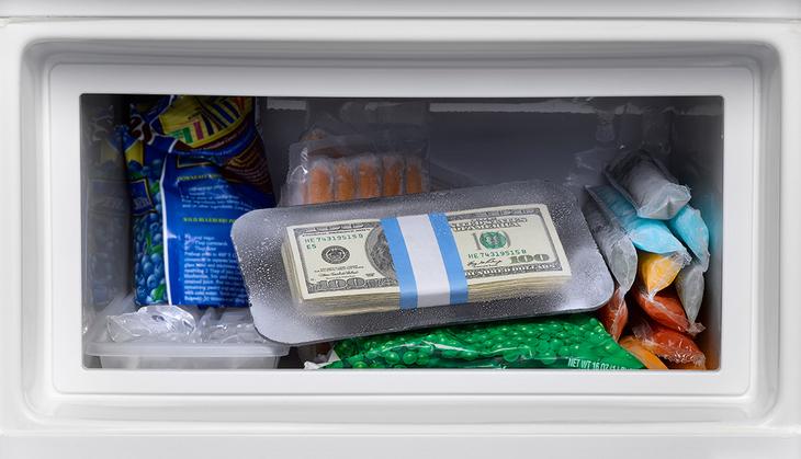 деньги в морозилке