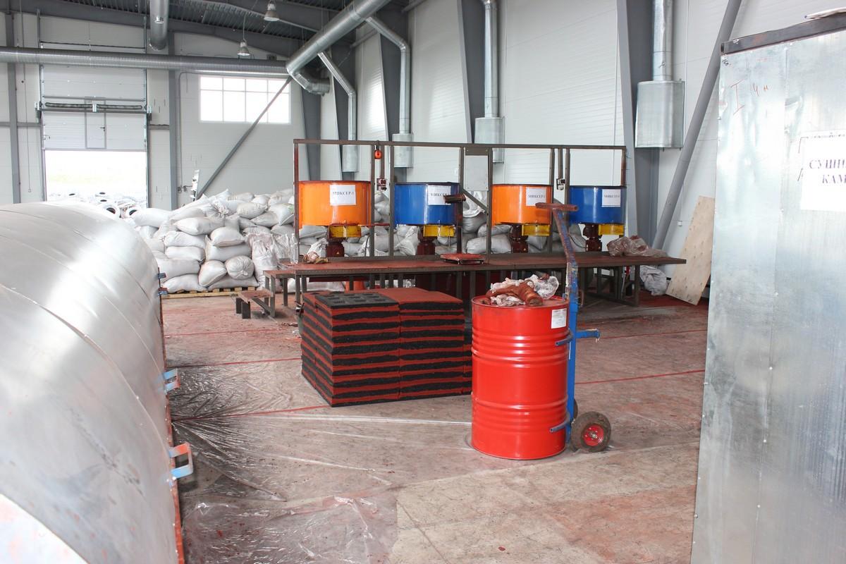 производство резиной плитки