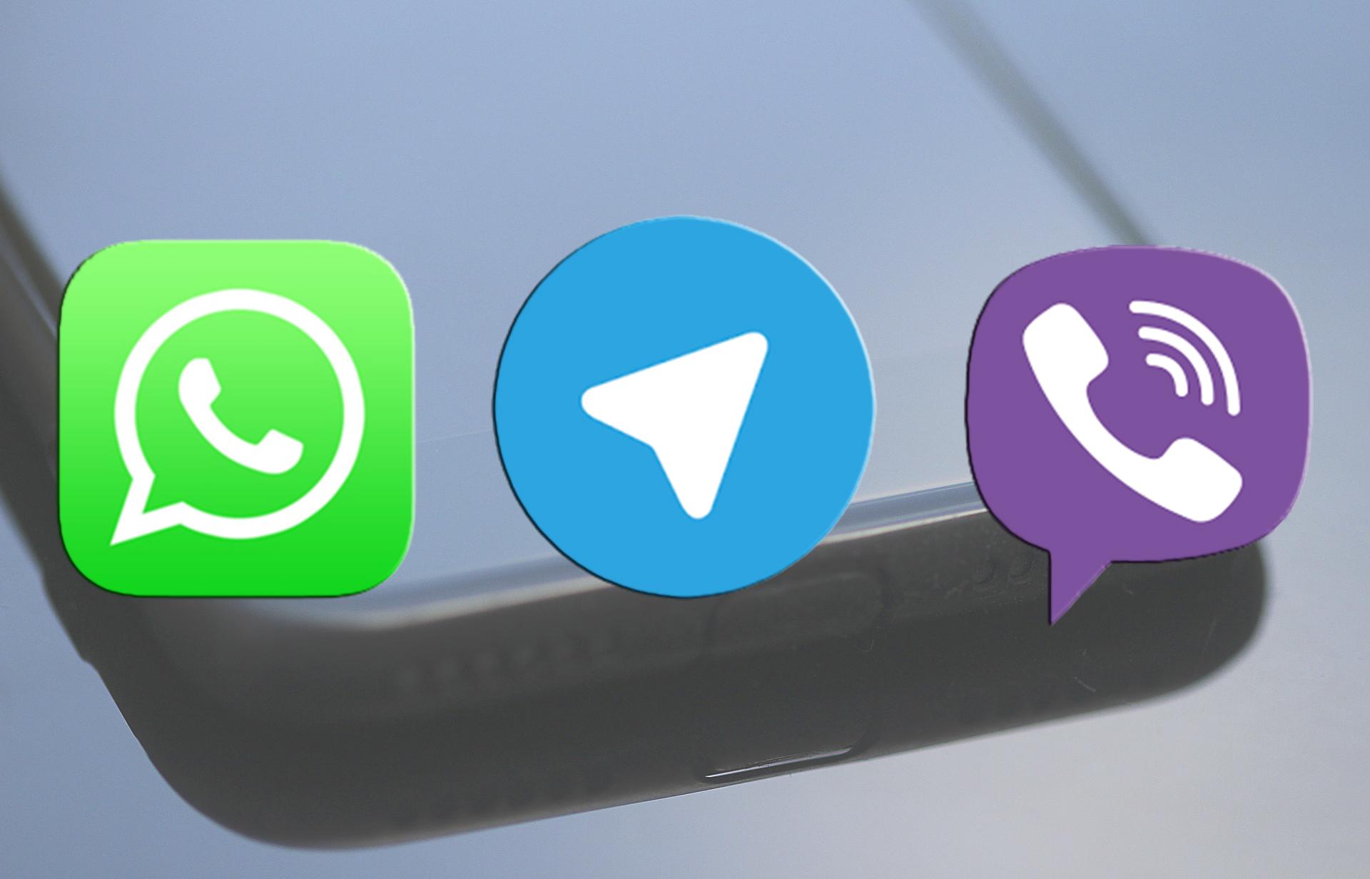 Ватсап вайбер телеграм лого